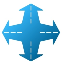 Intersection directions gradient icon vector