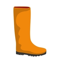 Boot shoe icon gardening design graphic vector