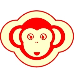 monkey icon 2016 new year sign vector image