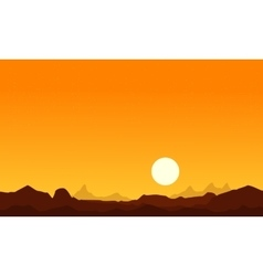 At sunrise desert scenery background collection vector