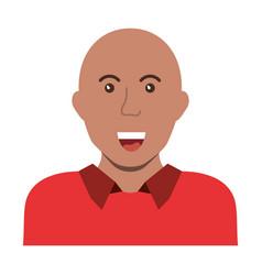 Bald man smiling vector