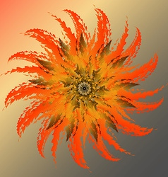 Blooming cactus vector
