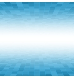 Blue Mosaic Tile Square Background Perspective vector image vector image