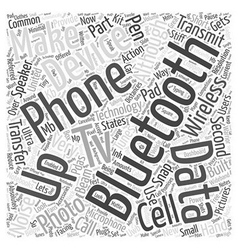 Bluetooth in action word cloud concept vector