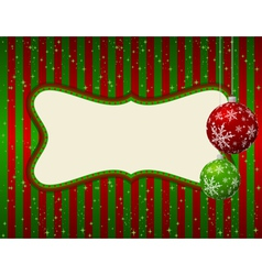 christmas green and red card vector image vector image
