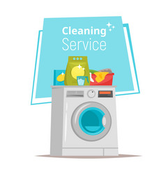 Cleaning service stuff vector