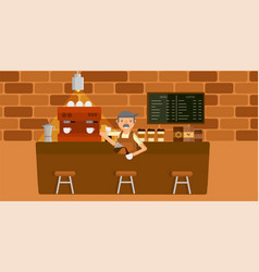 coffee shop graphic vector image vector image