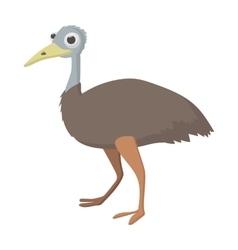 Emu icon cartoon style vector image vector image