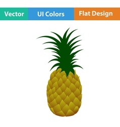 Flat design icon of Pineapple vector image