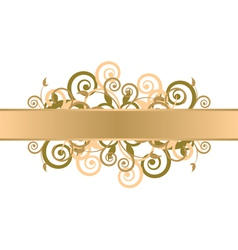 gold floral background vector image vector image