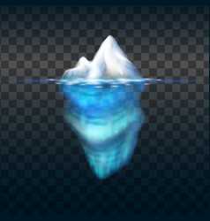 Iceberg on transparent background block of vector