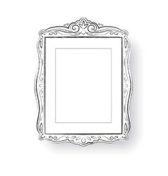 Line art Vintage baroque frame vector image vector image