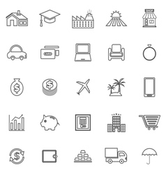 Loan line icons on white background vector