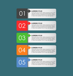modern business style options banner flat for vector image vector image