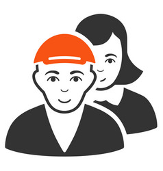 People pair icon vector