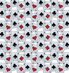Poker card theme pattern vector