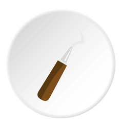 Probe dental tool icon circle vector