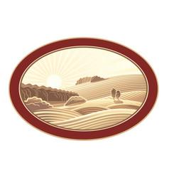 Rural landscape in frame 05 vector