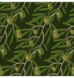 Seamless pattern with olive branches Retro vector image vector image