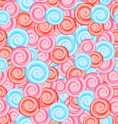 Seamless Texture with Colored Sweets Swirl vector image vector image