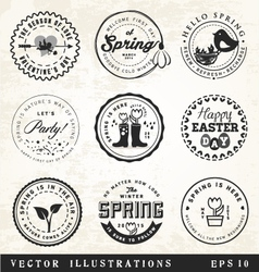 Spring Badges and Typography Elements vector image vector image