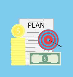 successful financial plan flat vector image