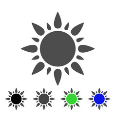 Sun light flat icon vector