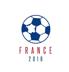 Football european championship 2016 in france vector