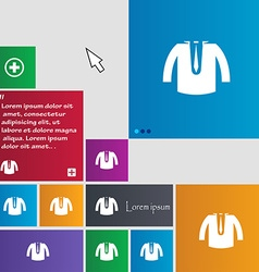 Casual jacket icon sign buttons modern interface vector