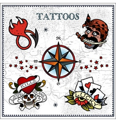 tattoos vector image