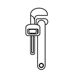 Wrench construction tool vector