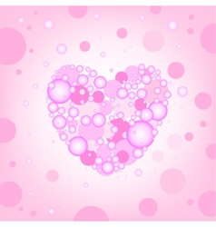 Circular heart effects background vector