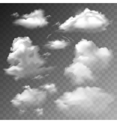 Transparent clouds set vector