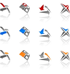 Abstract symbols vector image