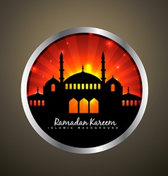 Ramadan kareem label vector