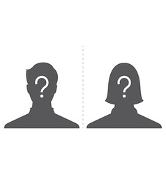 Anonymous male and female profile picture emotion vector