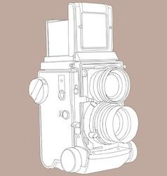 reflex film camera vector image
