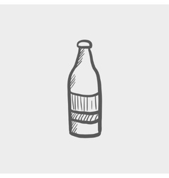 Soda bottle sketch icon vector
