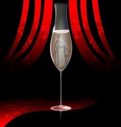 Cabaret champagne vector
