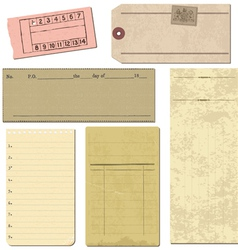 vintage paper elements vector image
