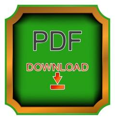 Pdf download icon vector image