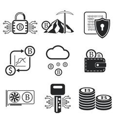 Bitcoin icon set vector