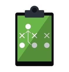 Board tactical diagram american football vector