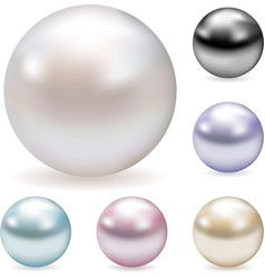color pearls vector image vector image