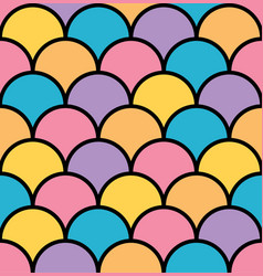 Colorful pastel scale seamless pattern black vector
