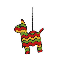 Donkey pinata isolated vector