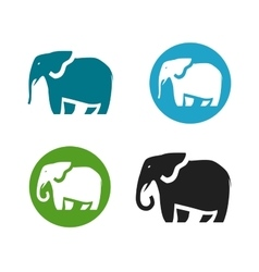Elephant logo animals icon or symbol vector