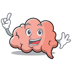 finger brain character cartoon mascot vector image vector image