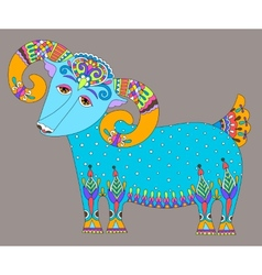 goat symbol of 2015 year decorative drawing in vector image vector image