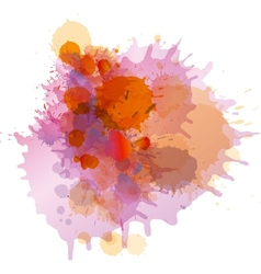 Grunge colorful paint splashes vector image